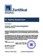 Das Zertifikat der Steinbeis-Hochschule für Absolventen unserer Coaching-Ausbildung